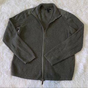 Kenneth Cole New York waffle knit full zip sweater